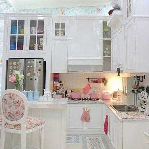 dapur dengan khitchen set shabby chic ~ rumah shabby