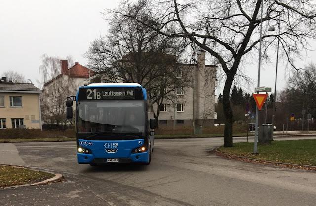 Bussi 21B Lauttasaaressa