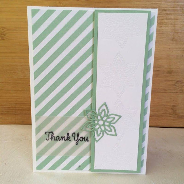 Flourishing Thank You Stampin' up! card www.amyfraser.co.uk