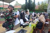 Koramil 0622-02/ Palabuhan Ratu Dampingi Gebyar Vaksin Dalam Rangka HUT Kab.Sukabumi Yang Ke 151