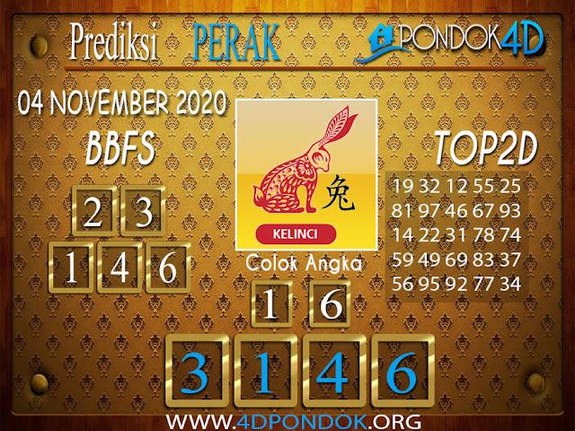Prediksi Togel PERAK PONDOK4D 04 NOVEMBER 2020