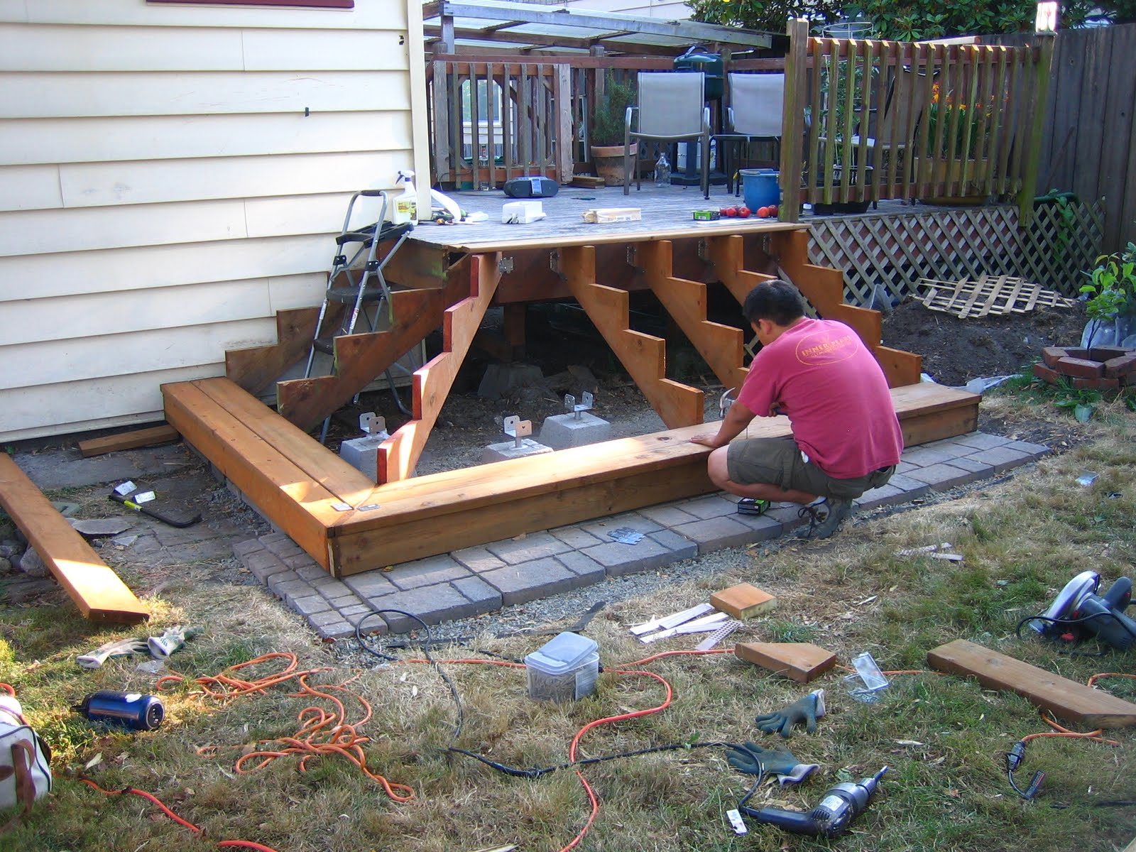 Build Wood Deck Stairs And Landing: Ballerina Breath: That Quote Is Silly, Let's Just Do It