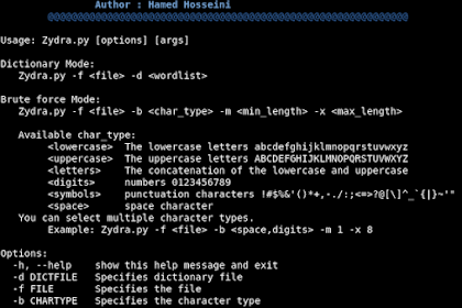 Zydra - File Password Recovery Tool And Linux Shadow File Cracker