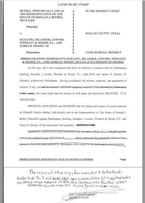 Bethel v. Quilling Dismissal Order based on Rule 91a