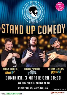 Stand Up Comedy Duminica Seara in Bucuresti