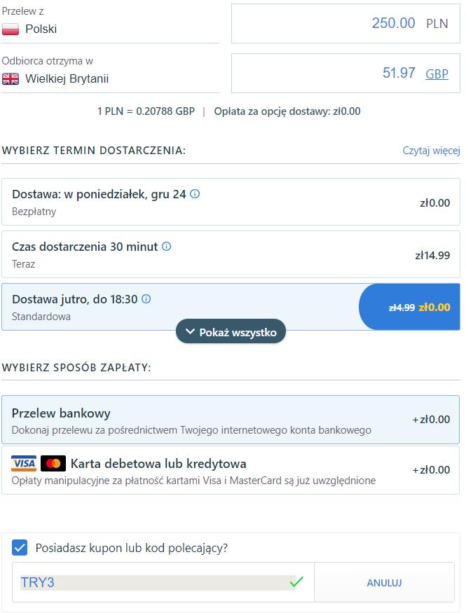 TransferGo - Przelew
