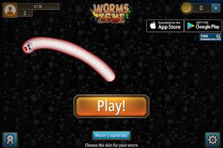 Jogo grátis Worms Zone gratuito