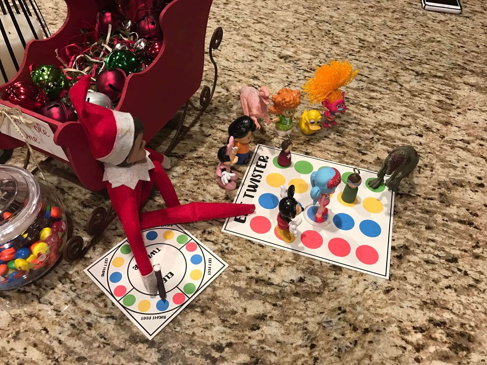 picture relating to Twister Spinner Printable identify Elf Twister - Residing a Mommy Everyday living