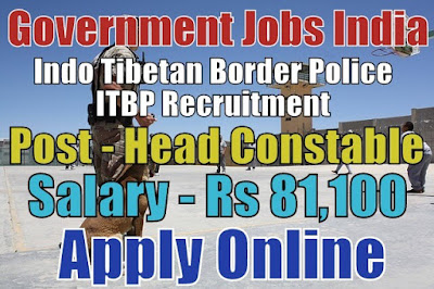 Indo Tibetan Border Police ITBP Recruitment 2018