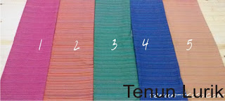 Kain Tenun Lurik Berbagai Pilihan Warna TL-01