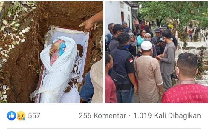 Viral, Foto Jenazah Diduga Positif Covid-19 Dikubur Masih Pakai Daster