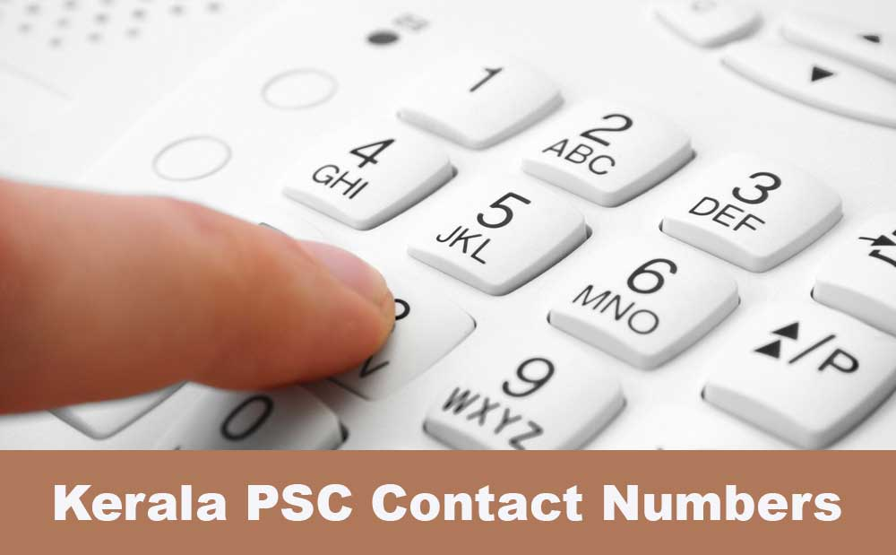 kerala psc new call centre contact numbers