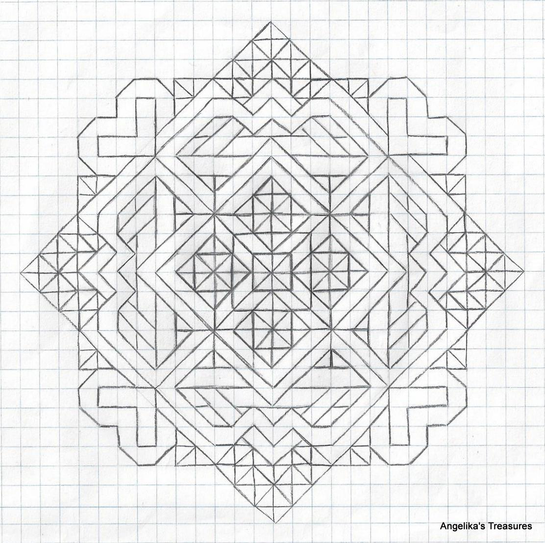 Angelika's Treasures: 5) Passer ,Tekeningen,Graph Paper Art