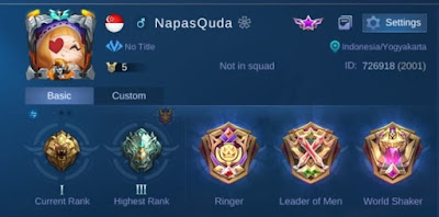 Profile akun MLBB - NapasQuda