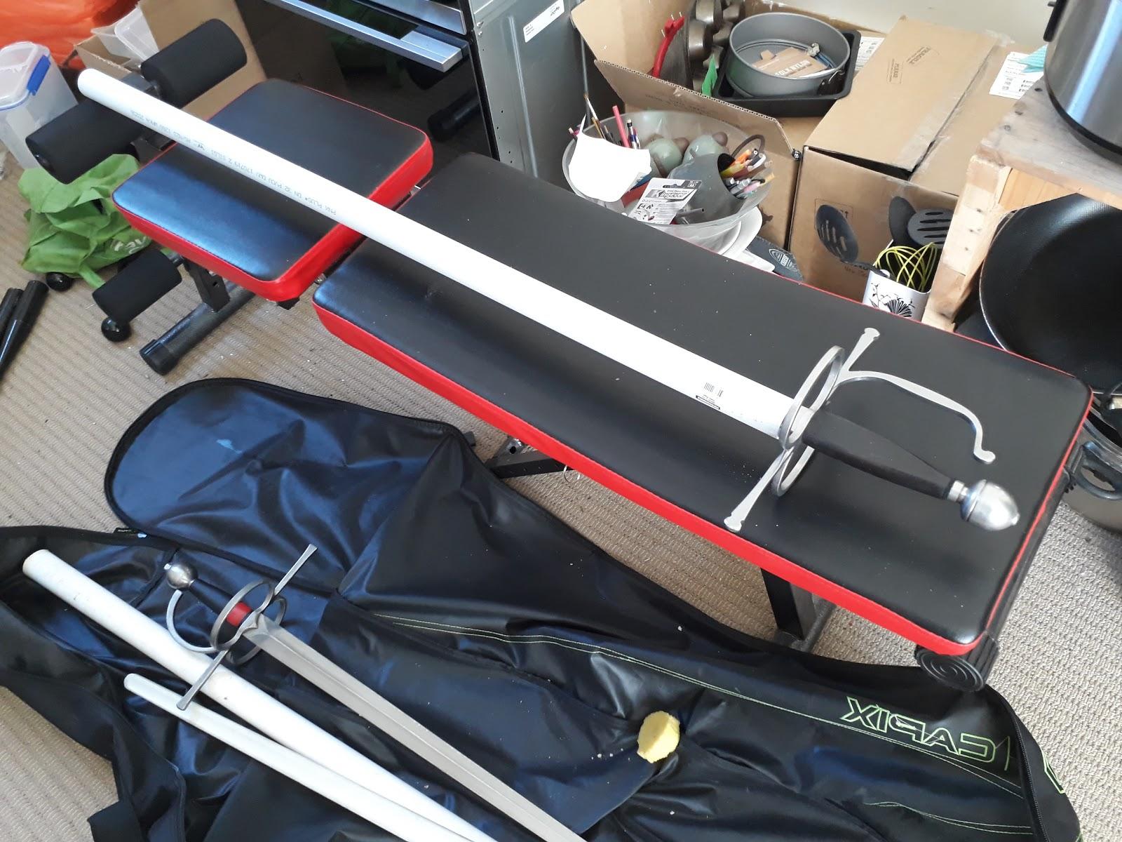 HEMA Hack: Self cleaning sword scabbard