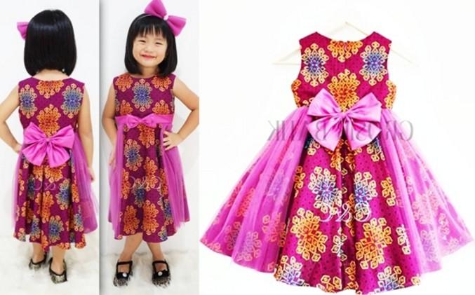 20 Model Baju Batik Anak Perempuan Kreasi Baru Dengan