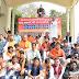 लोक अधिकार मंच ने विशाल धरना देकर किया माकपा का विरोध