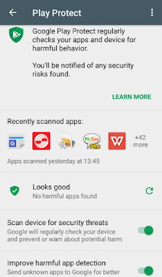 Google Play Protect Security Status