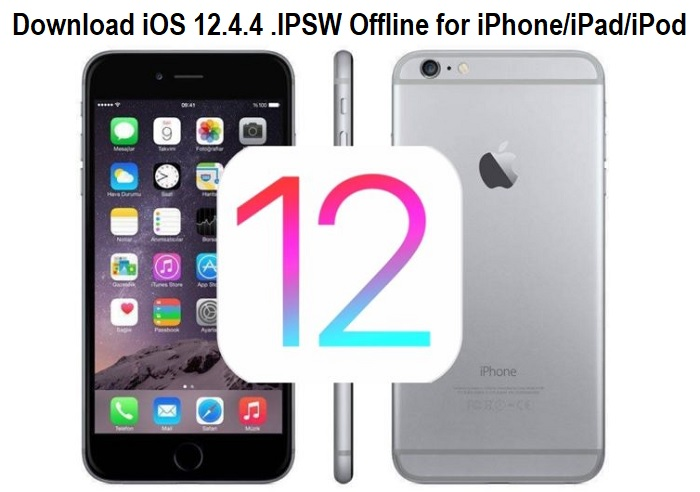 Download iOS 12.4.4 .IPSW Offline for iPhone iPad iPod