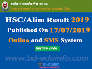 HSC Alim Examination Result 2019