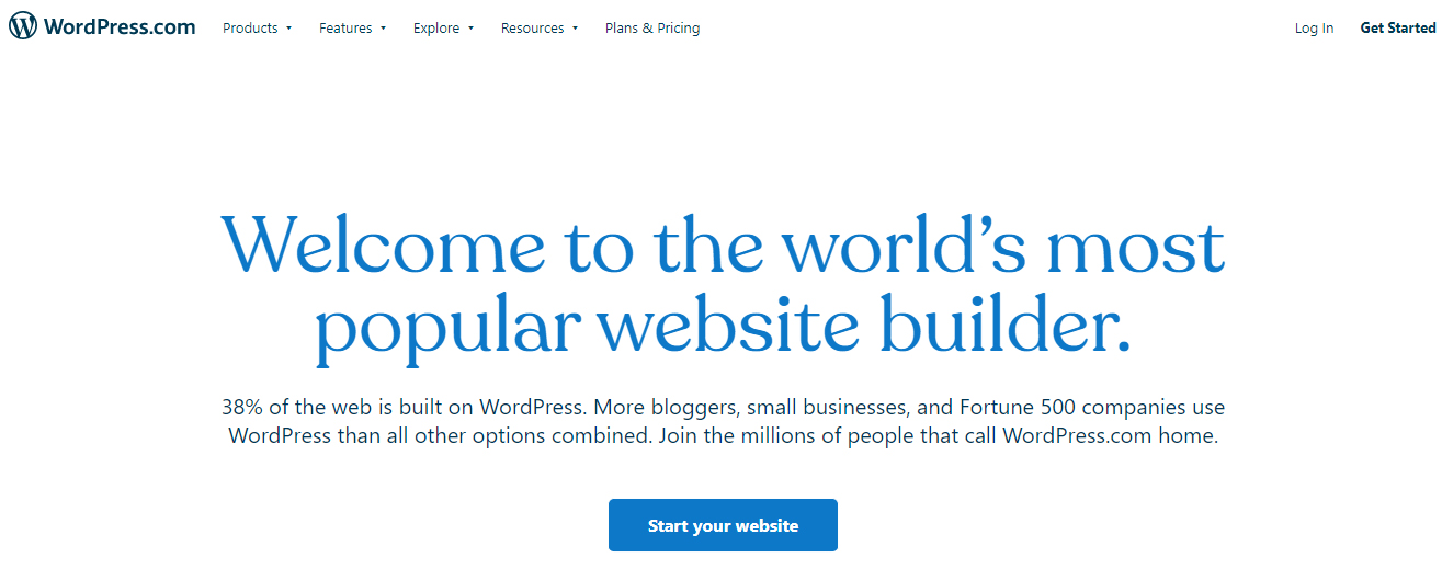 WordPress.com best free web hosting site