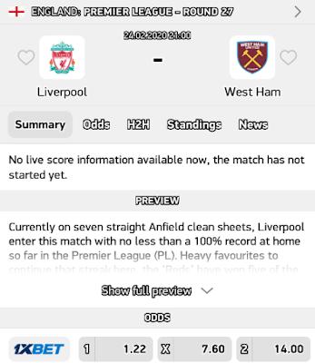 Liverpool vs west ham predictions