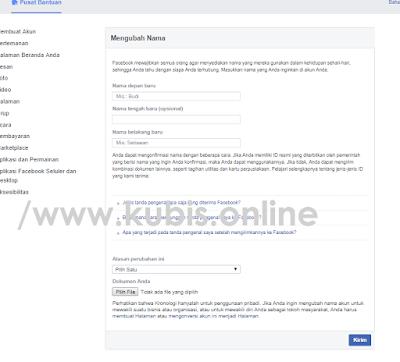 3 Cara Mengganti Nama Facebook Yang Sudah Tidak Bisa Diganti Terbukti Ampuh