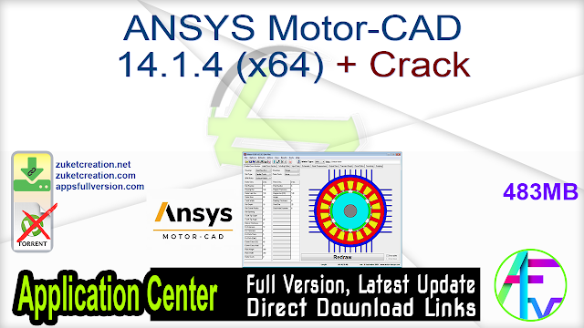 ANSYS Motor-CAD 14.1.4 (x64) + Crack