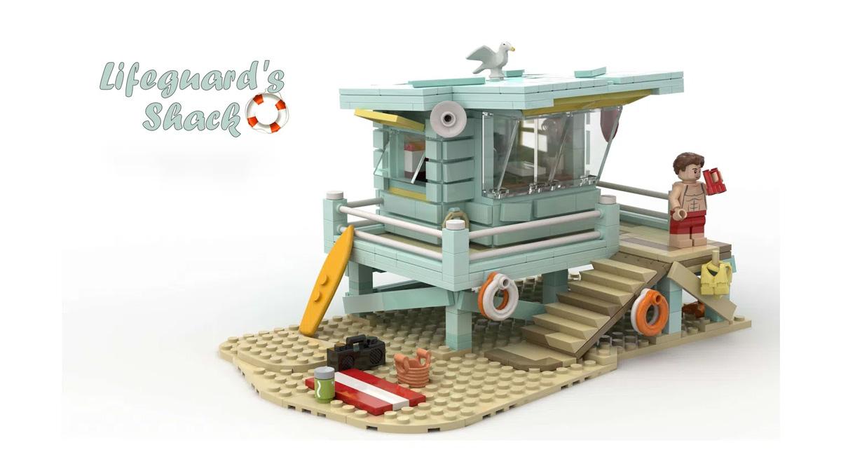 レゴアイデアで『ライフガードの小屋』が製品化レビュー進出!2021年第2回1万サポート獲得デザイン紹介