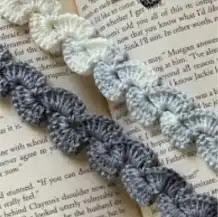 Encaje separador a Crochet