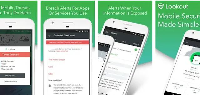 مميزات مكافح الفيروسات للهاتف Lookout Mobile Security