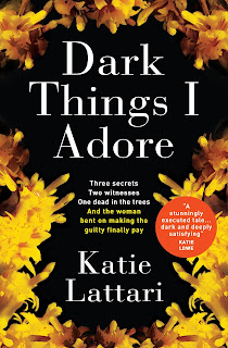 Dark Things I Adore cover - Black with yellow flowers on