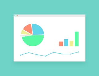 Schematyczny obraz prezentujący wykres i dane