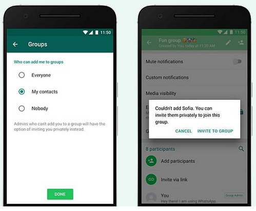 You can now block others from adding you to Groups With WhatsApp Latest Feature