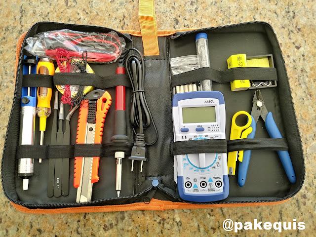 kit de ferramentas para eletrônica