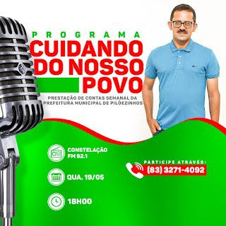 Prefeitura de Pilõezinhos estreia programa semanal de rádio