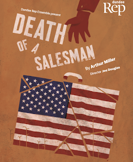 Dundee Rep production poster of Death of a Salesman by Arthur Miller