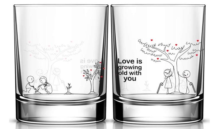 matching drinking glasses
