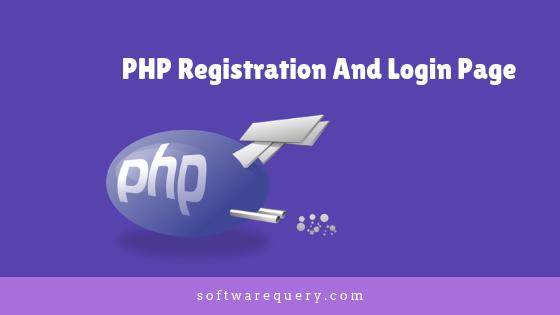 registration system using PHP and MySQL database
