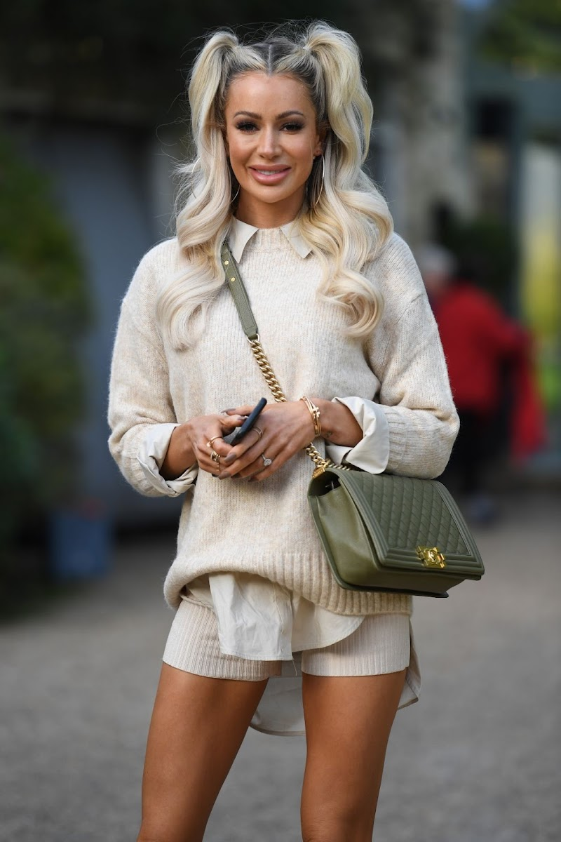 Olivia Attwood Clicked on the Set of The Only Way is Essex 7 Oct -2020