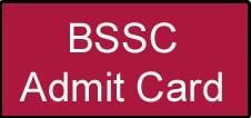 BSSC Inter Level Admit Card