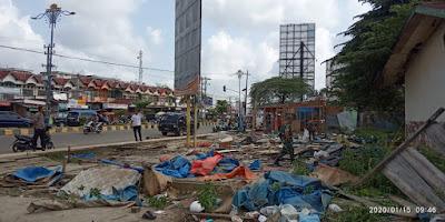 Bangunan Liar di Lokasi Eks SD Pasar Sarinah Disterilkan Timgab