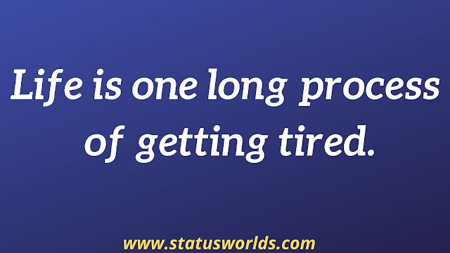Tired Status and Quotes