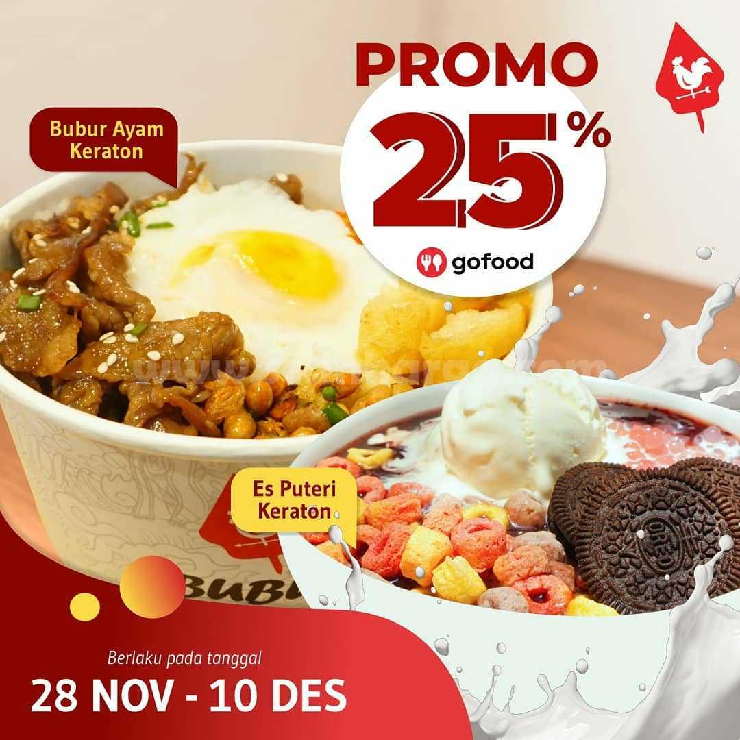 Promo Bubur Keraton Diskon 25% via Gofood