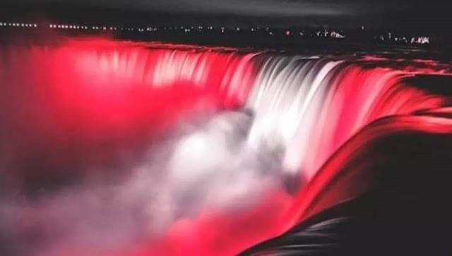 Fête de l'indépendance : Les chutes du Niagara aux couleurs du drapeau tunisien