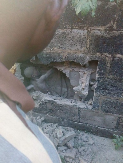 UNBELIEVABLE: 12yrs Old Boy Buried In Wall Alive For 3 Days In Ondo RESCUED Photos Trending Online