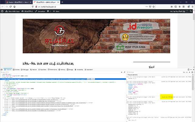 pasang font di web