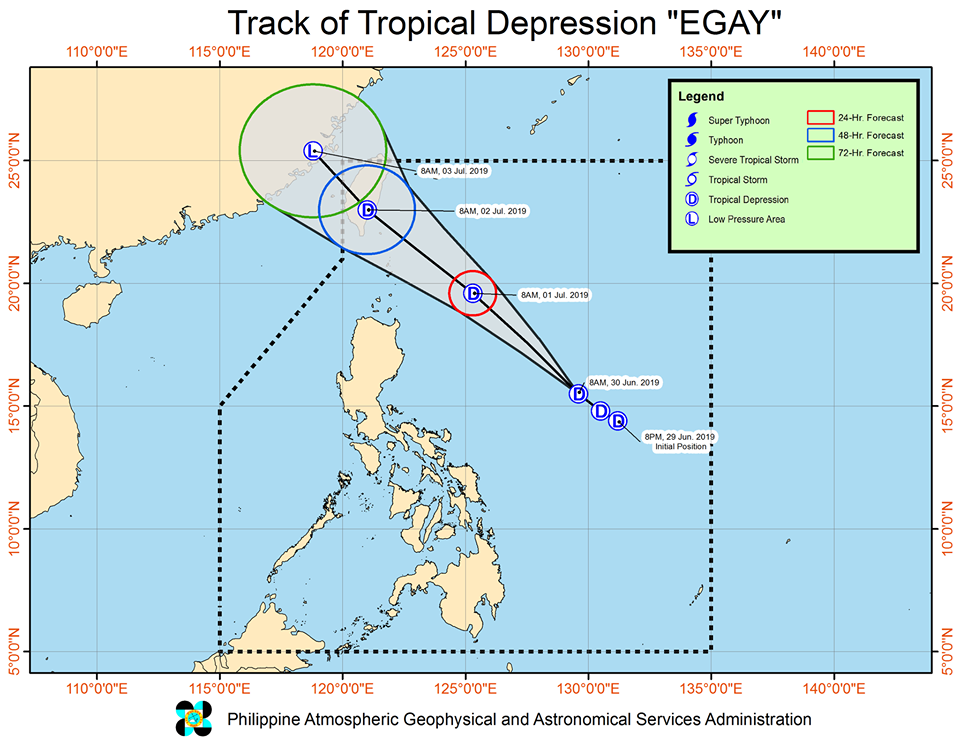'Bagyong Egay' PAGASA weather update June 30, 2019