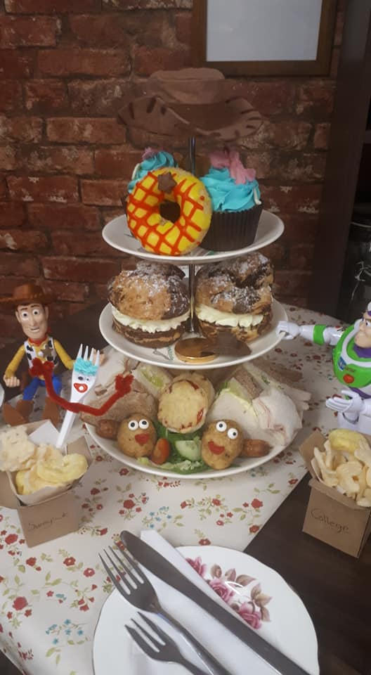20+ Places you can book Children's Afternoon Tea in North East England - toy story theme at remember me stockton