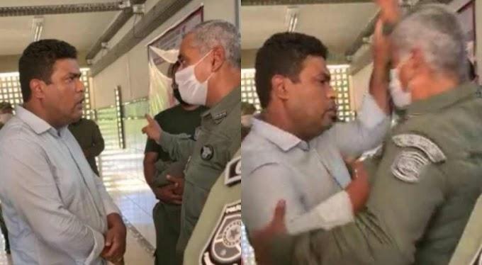 Vídeo: deputado Joel da Harpa e Coronel da Polícia Militar trocam empurrões durante vacinação de agentes